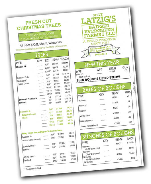Click here to view a PDF of our Christmas Pricelist!